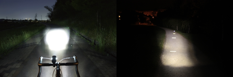 CatEye HL-EL540 beamshot comparison
