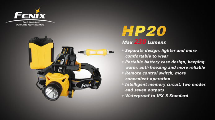 Fenix HP-20 marketing