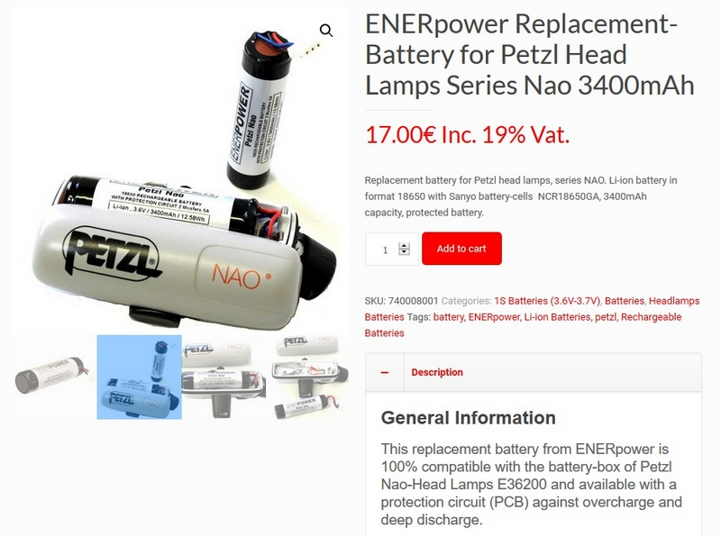ENERpower for NAO battery 3400mAh