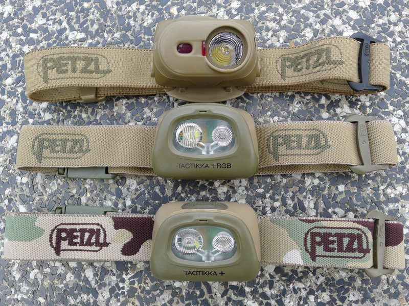 Petzl TacTikka XP & TacTikka+