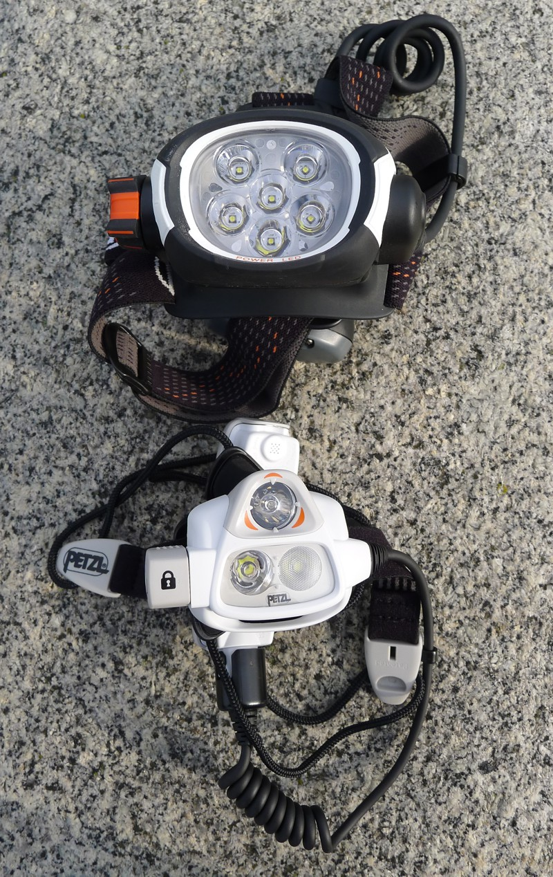 Petzl ultra rush vs NAO - side by side