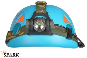 Spark SX-5 front on helmet.